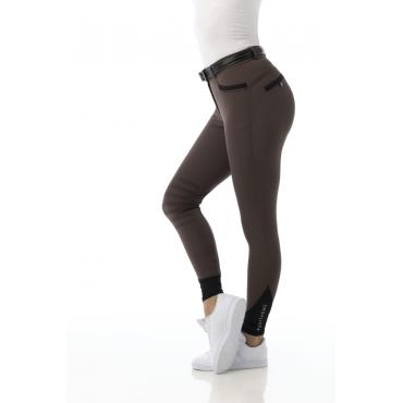 EQUITHEME - Pantalon femme Safir brun/noir • Sud Equi'Passion