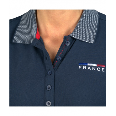 FLAGS&CUP - Polo femme France Limited Edition • Sud Equi'Passion