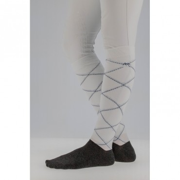 PENELOPE LEPREVOST - Chaussettes Luxe Stripes&Cross • Sud Equi'Passion