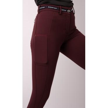 MONTAR - Pantalon femme Mila Logotape grip genoux • Sud Equi'Passion