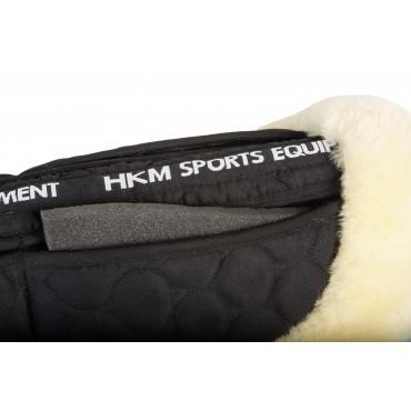 HKM - Amortisseur mouton véritable avec pads • Sud Equi'Passion