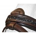 Bridon cuir Black Strass