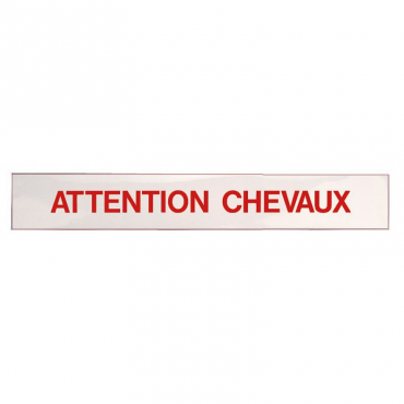 "Panneau autocollant ""Attention Chevaux"""