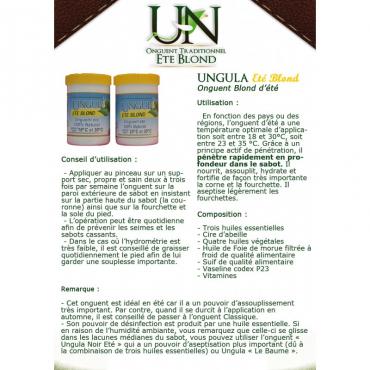UNGULA NATURALIS - Onguent Eté Blond • Sud Equi'Passion