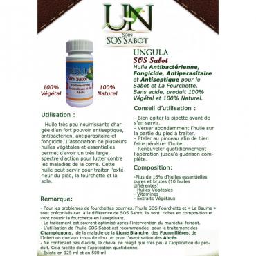 UNGULA NATURALIS - Soin Ungula SOS Sabot 125ml • Sud Equi'Passion