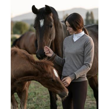 CAVALLERIA TOSCANA - Pull femme col V en laine merinos • Sud Equi'Passion