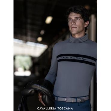 CAVALLERIA TOSCANA - Polo technique homme manches longues Jersey Fleece • Sud Equi'Passion