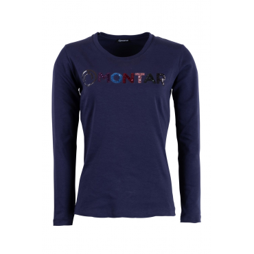 T-shirt manches longues sequins Shirley MONTAR • Sud Equi'Passion