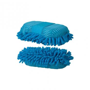 Eponge duo mesh/microfibre