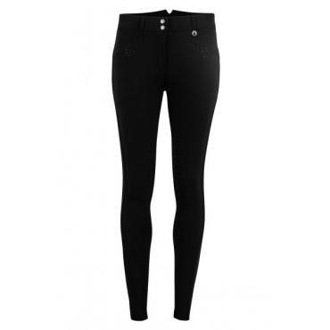 Pantalon femme taille haute Aba Crystal Rain fond silicone MONTAR • Sud Equi'Passion